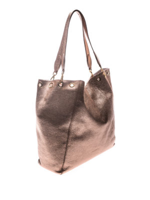 L' Autre Chose: totes bags online - Laminated leather tote
