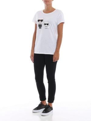 LAGERFELD: t-shirt online - T-shirt Karl & Choupette Ikonik