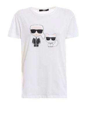 LAGERFELD: t-shirt - T-shirt Karl & Choupette Ikonik