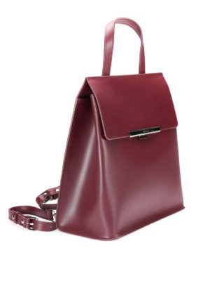 Lancaster: backpacks online - Leather backpack with flap