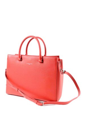 Lancaster: bowling bags online - Saffiano leather large bowling bag