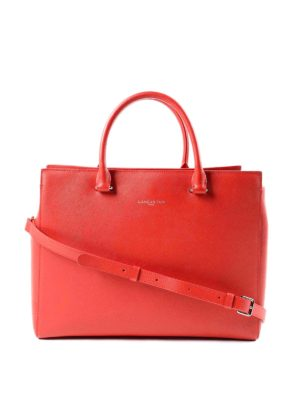 Lancaster: bowling bags - Saffiano leather large bowling bag