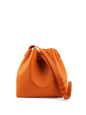 Lancaster: Bucket bags online - Pur saffiano leather bucket bag