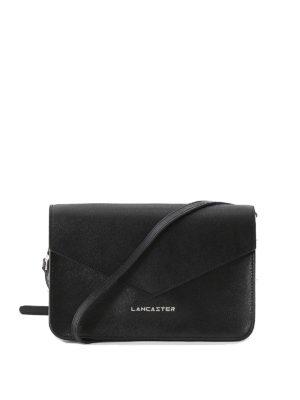 LANCASTER: borse a tracolla - Mini borsa nera in pelle Saffiano