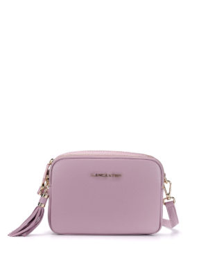 Lancaster: cross body bags - Leather zipped cross body bag
