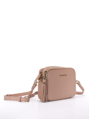 Lancaster: cross body bags online - Leather zipped cross body bag