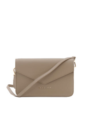 LANCASTER: borse a tracolla - Mini borsa greige in pelle Saffiano