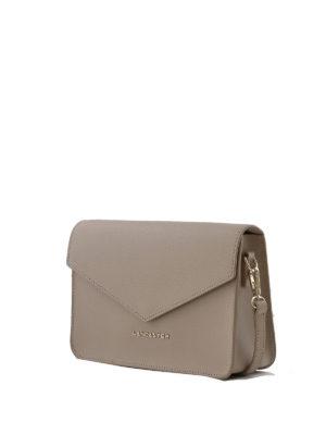 LANCASTER: borse a tracolla online - Mini borsa greige in pelle Saffiano