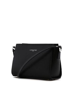 LANCASTER: borse a spalla online - Tracolla nera in pelle Saffiano