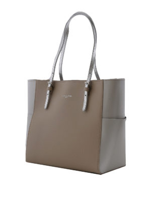 LANCASTER: shopper online - Shopper in Saffiano color greige