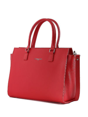 LANCASTER: shopper online - Shopper in Saffiano color anguria