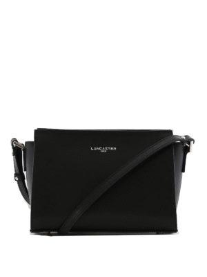 LANCASTER: borse a spalla - Tracolla nera in pelle Saffiano