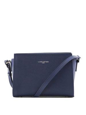 LANCASTER: borse a spalla - Tracolla blu in pelle Saffiano