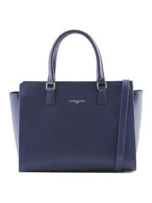 LANCASTER: shopper - Borsa a mano in Saffiano blu