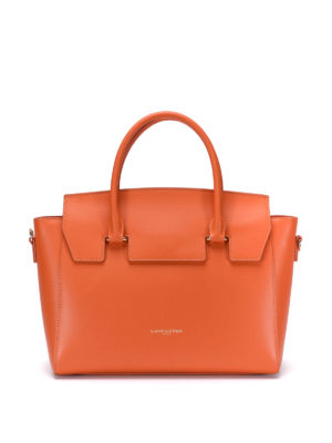 Lancaster: totes bags - Flap detail leather bag