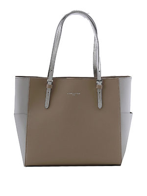 LANCASTER: shopper - Shopper in Saffiano color greige