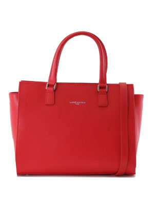 LANCASTER: shopper - Shopper in Saffiano color anguria
