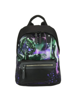 Lanvin: backpacks - Exclusive print nylon backpack
