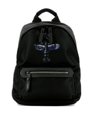 Lanvin: backpacks - Flying Lobster print nylon backpack