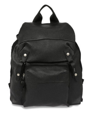 Lanvin: backpacks - Leather and nylon backpack