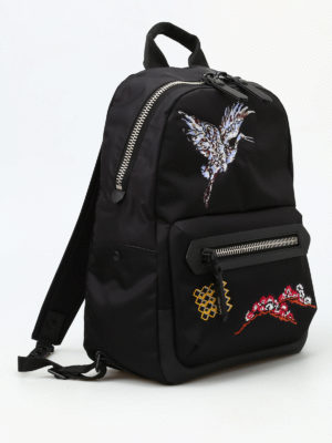 Lanvin: backpacks online - Bird embroidery nylon backpack