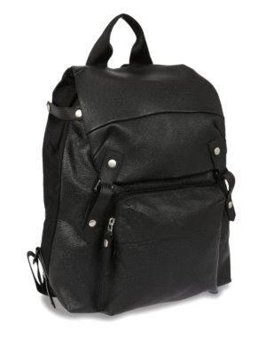 Lanvin: backpacks online - Leather and nylon backpack