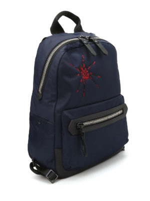 Lanvin: backpacks online - Spider embroidery nylon backpack