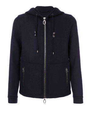 Lanvin: casual jackets - Hooded felt jacket