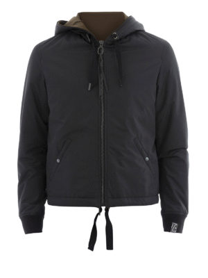 Lanvin: casual jackets - Matte nylon hooded zip jacket