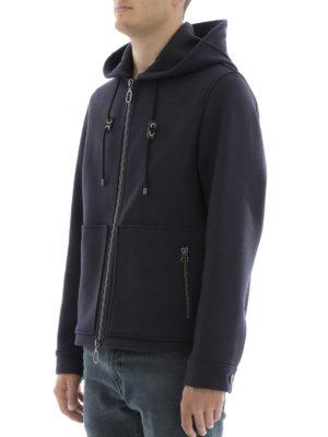 Lanvin: casual jackets online - Hooded felt jacket