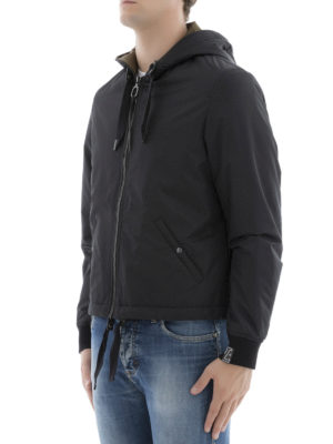 Lanvin: casual jackets online - Matte nylon hooded zip jacket