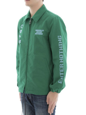 Lanvin: casual jackets online - Printed green canvas jacket