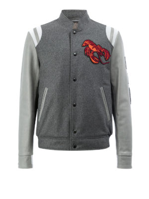 Lanvin: casual jackets - Wool blend and leather jacket