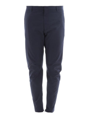 Lanvin: casual trousers - Cotton trousers with zipped bottom