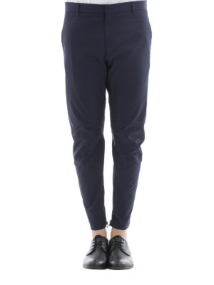 Lanvin: casual trousers online - Cotton trousers with zipped bottom