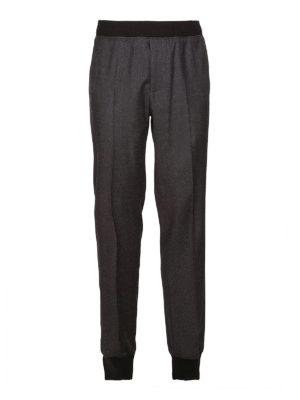 LANVIN: pantaloni casual - Pantaloni sportivi in lana e cashmere