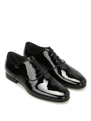 Lanvin: classic shoes online - Patent leather Oxford shoes