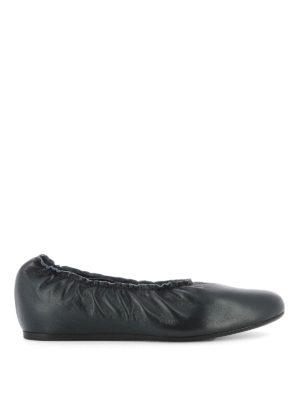 Lanvin: flat shoes - Elastic edge wedge ballerinas