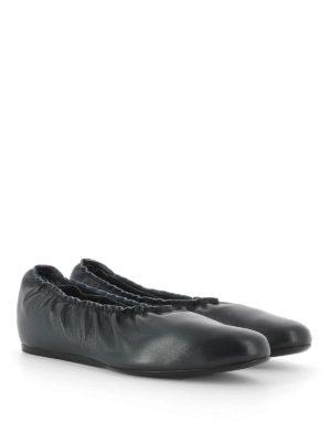 Lanvin: flat shoes online - Elastic edge wedge ballerinas