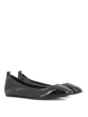 Lanvin: flat shoes online - Patent leather classic ballerinas