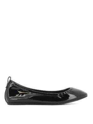 Lanvin: flat shoes - Patent leather classic ballerinas