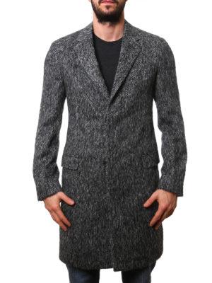 Lanvin: knee length coats online - Wool blend overcoat
