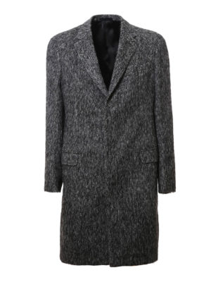 Lanvin: knee length coats - Wool blend overcoat