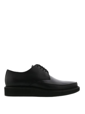 Lanvin: lace-ups shoes - Milled sole leather Derby