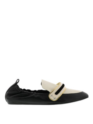 Lanvin: Loafers & Slippers - Bicolour leather slippers