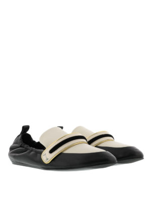 Lanvin: Loafers & Slippers online - Bicolour leather slippers