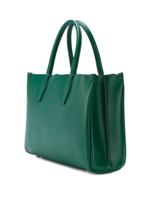 LANVIN: shopper online - Borsa a mano mini Journée in pelle verde