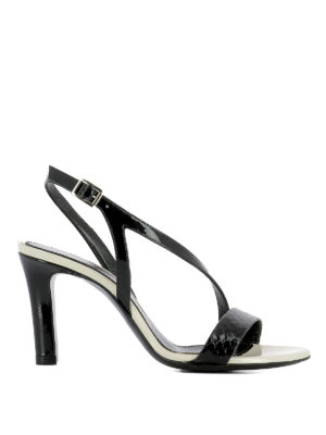 Lanvin: sandals - Crisscross straps leather sandals