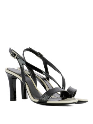 Lanvin: sandals online - Crisscross straps leather sandals