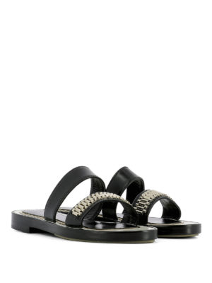 Lanvin: sandals online - Embellished double strap sandals